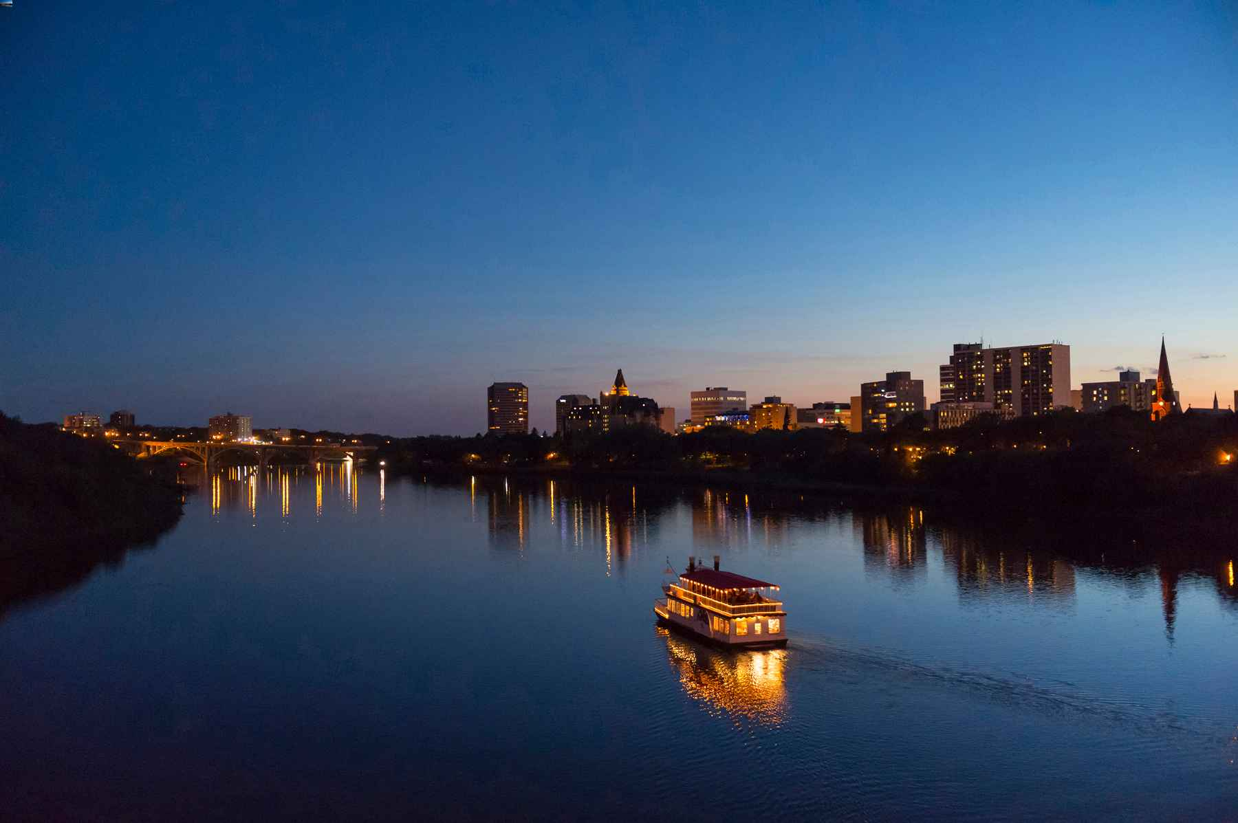 Prairie River Cruises Boat on the river in Saskatoon